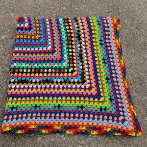 Crocheted Rainbow Afghan Throw